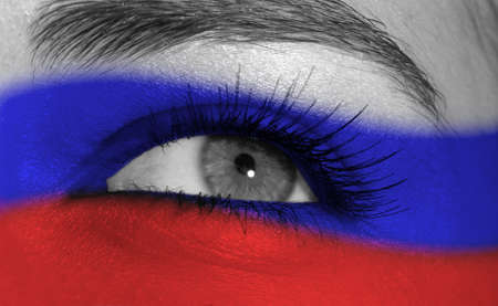 white russian: eye with flag