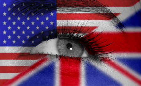 eye with flag photo