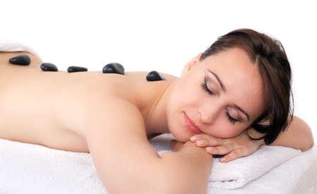 hot body girl: hot stone massage