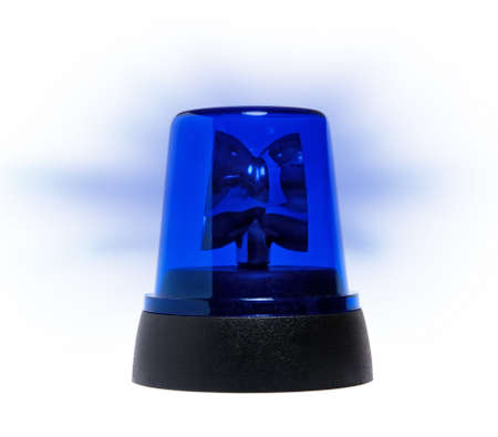 blue rotating beacon Stock Photo