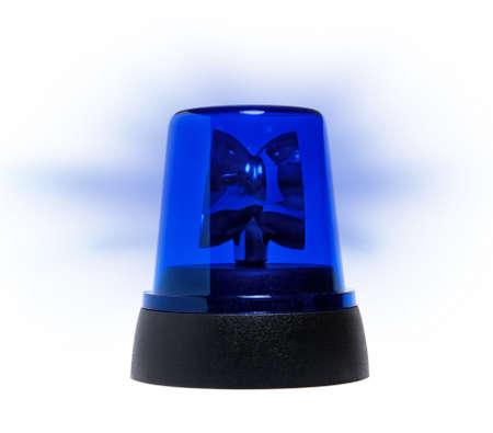 police equipment: blue rotating beacon Stock Photo