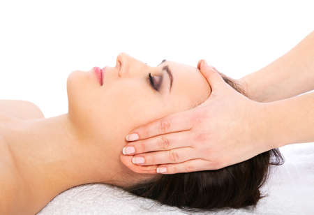 hands massage: face massage