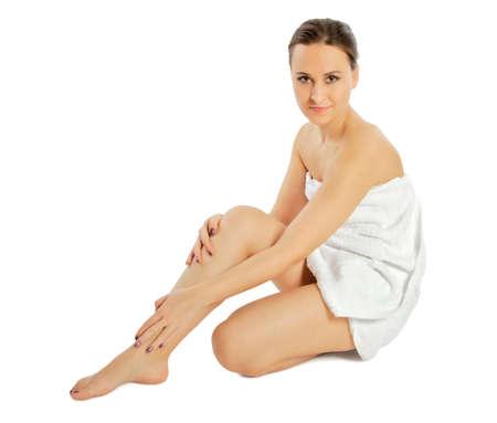 woman towel: spa woman