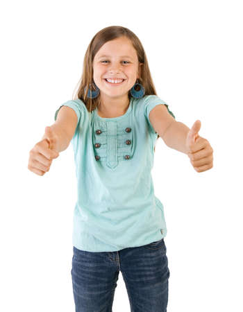 girl with thumbs up Stock Photo - 15021953