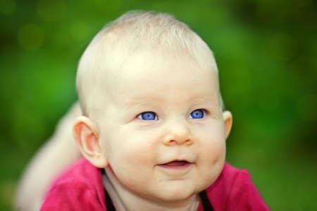 smiling baby girl Stock Photo - 15392179