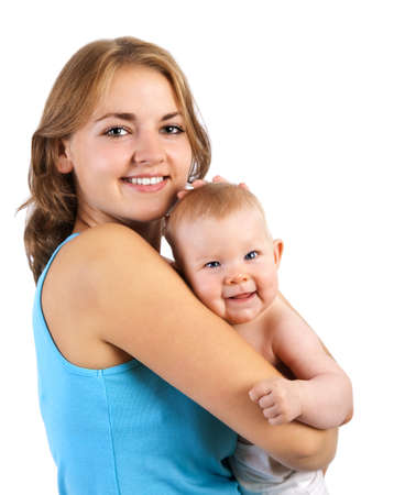 happy mother with baby Stock Photo - 16086418