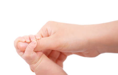 baby hand holding mothers finger Stock Photo - 22449254