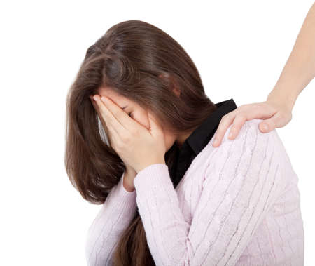 depressiven Teenager-M�dchen
