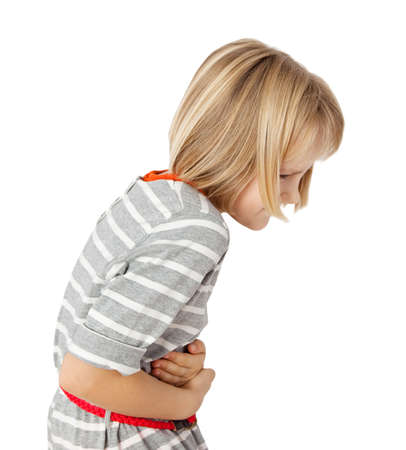 stomach flu: child with stomach ache