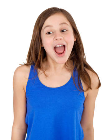 young girl screaming photo