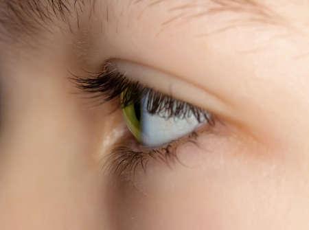 eye green: ojo verde de una joven