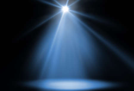stage spot lighting background blue