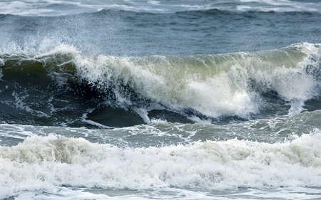 olas de mar: ondas del oc�ano Foto de archivo