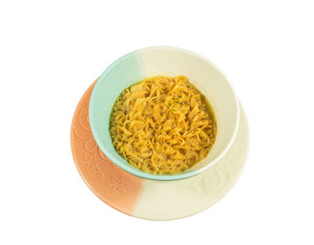 Instant noodle Isolated on white.  photo