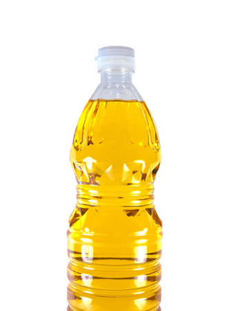 cooking oil isolated on white background  photo
