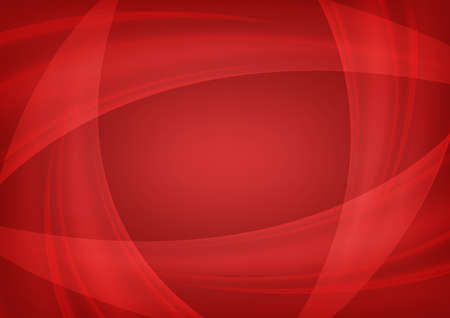 Vector abstract wave red background