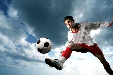 hombre deportista: Un jugador de f�tbol