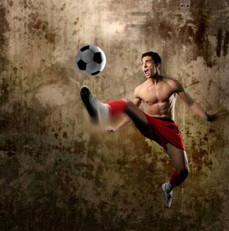 hovel: a soccer player Stock Photo