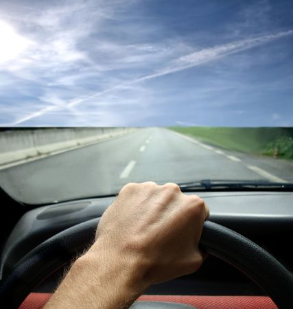 a man drive a car Stock Photo - 3365754