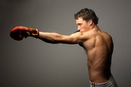 attractive boxer training Stock Photo - 5582852