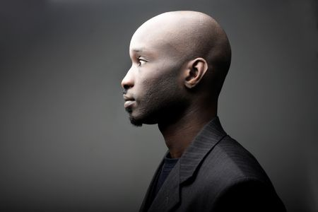 profile of black young man photo