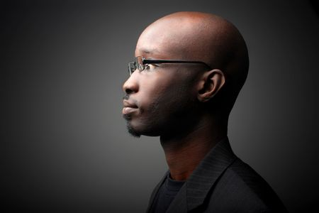 black guy with glasses photo