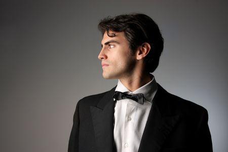 adult profile: elegant man portrait