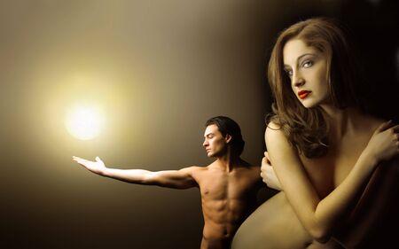 pareja desnuda: pareja desnuda hermosa
