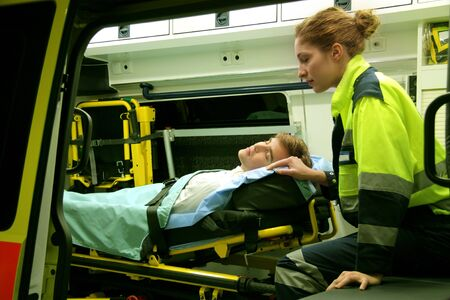 Emergency equipment in ambulance interior Stock Photo - 5619799