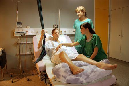 mujer embarazada en el hospital Foto de archivo - 5619798