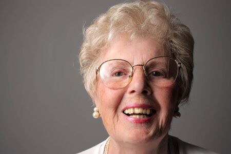 portrait of smiling granmother isolated Stock Photo - 5721864