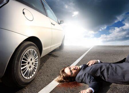 businessman killed by car Stock Photo - 5731365