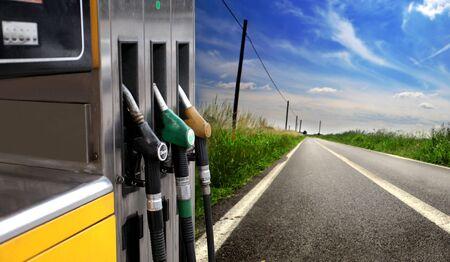Detalle de una bomba de gasolina  Foto de archivo