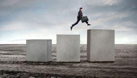 キャリア: フィールド上のより高い 1 つをキューブからジャンプの実業家