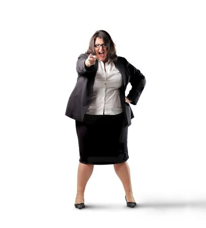 Angry businesswoman Stock Photo - 7955609