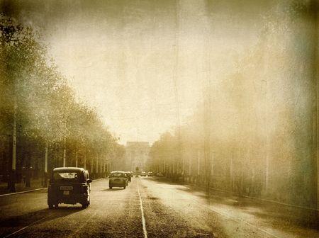 Old street in London photo