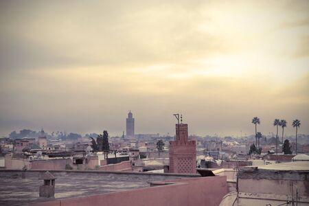 Skyline of Marrakech Stock Photo