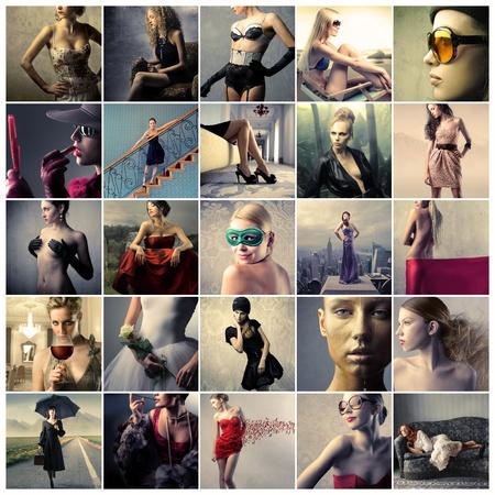 fille nue sexy: Collage de belles femmes � la mode