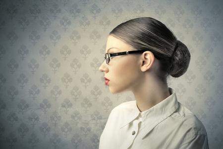 woman profile: Profile of a beautiful woman