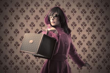 vanity bag: Beautiful woman with fashion bag