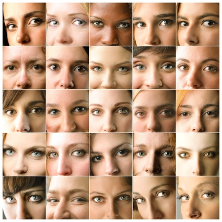 portrait of a women: Composition of womens visages