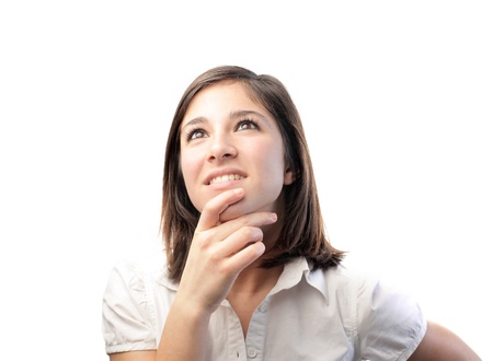 Young woman thinking Stock Photo - 8601637