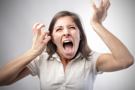 Young woman screaming Stock Photo - 8601639