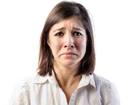 Sad young woman Stock Photo - 8601635