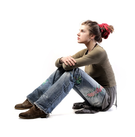 Young woman in alternative clothes Stock Photo - 8612305