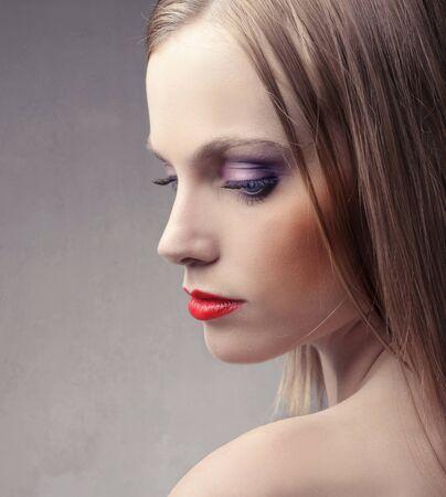 Profile of a beautiful woman photo