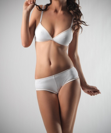 knickers: Womans body in lingerie Stock Photo