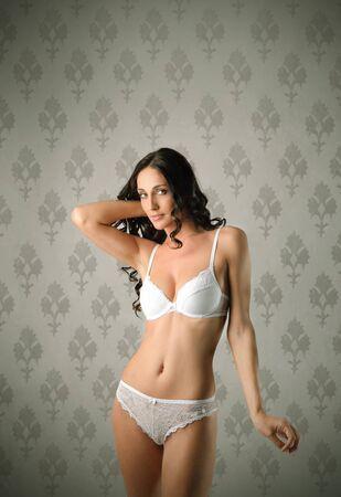 knickers: Beautiful woman in underwear Stock Photo