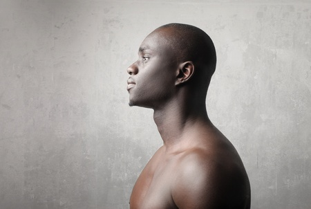 Profile of a handsome african man photo