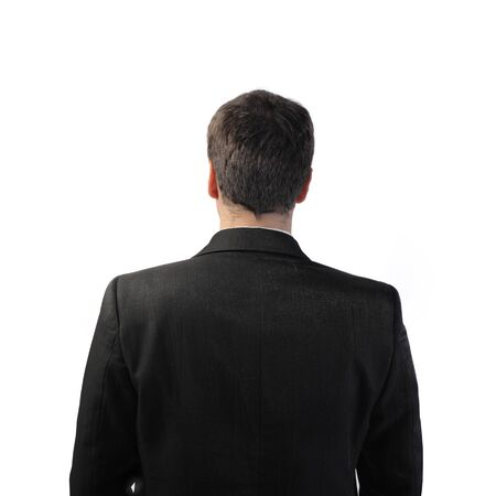 'head and shoulders': Rear view of a businessman Stock Photo